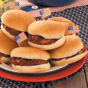 Barbecued Hamburgers
