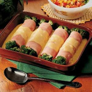 Ham and Broccoli Roll-ups Recipe