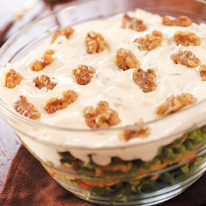 Layered Salad with Walnuts Recipe