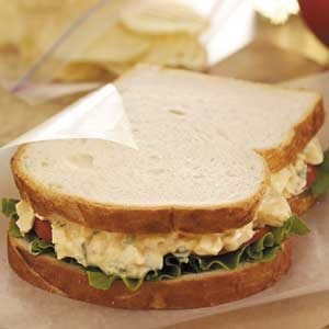 Mom's Egg Salad Sandwiches Recipe