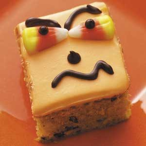 Halloween Pumpkin Bars Recipe