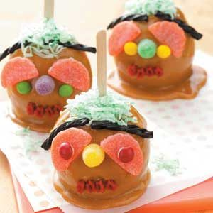 Ghoulish Caramel Apples Recipe