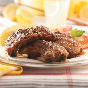 Grilled Maple-Glazed Spareribs Recipe