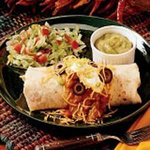 Southwestern Beef Burritos