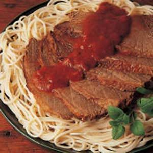 Pot Roast with Spaghetti