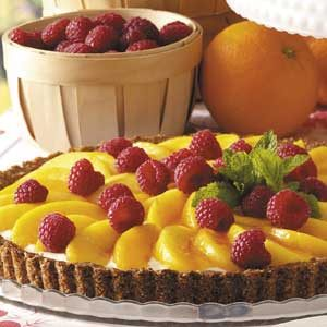 Peaches 'n' Cream Raspberry Tart Recipe