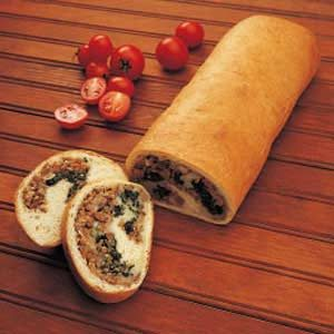 Stuffed Spinach Loaf Recipe