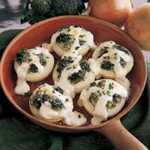 Broccoli-Stuffed Onions Recipe