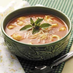 Tomato Soup with Cheese Tortellini