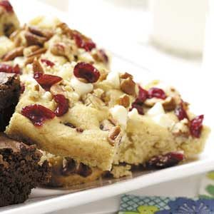 White Chip Cranberry Blondies Recipe