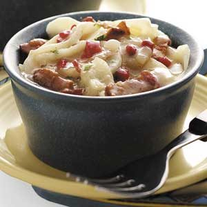 Warm German Potato Salad for Two