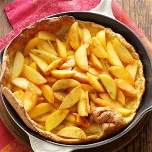 Baked Peach Pancake Recipe