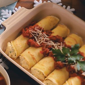 Cheesy Manicotti Crepes Recipe