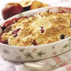 Fresh Plum Crumb Dessert Recipe