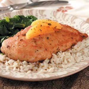 Breaded Chicken with Orange Sauce