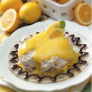 Chocolaty Lemon Meringue Cups Recipe