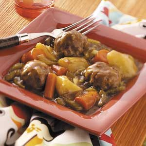 Easy Meatball Stew Recipe