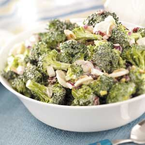 Fresh Broccoli Salad with Cranberries