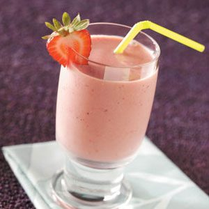 Strawberry Tofu Smoothies
