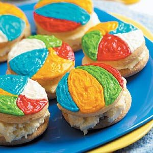 Beach Ball Ice Cream Sandwiches Recipe