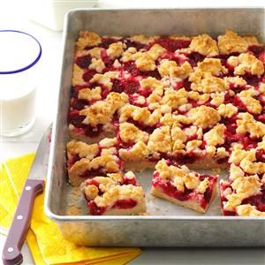 Raspberry Patch Crumb Bars Recipe