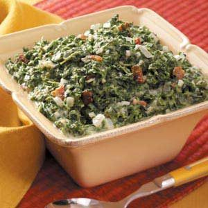 Creamed Spinach with Bacon Recipe