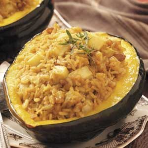Rice-Stuffed Acorn Squash Recipe