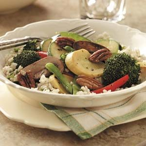 Pecan Vegetable-Rice Medley Recipe