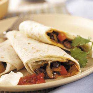 Microwave Black Bean Burritos
