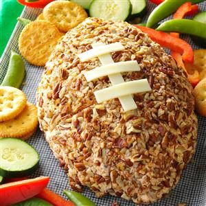 Sports Fanatic Lunch: Ham-Cheddar Cheese Ball