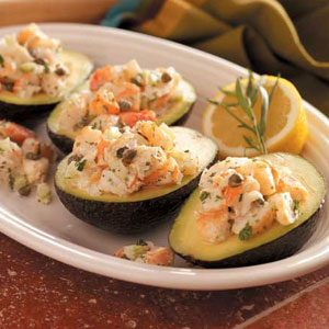 Shrimp Salad-Stuffed Avocados Recipe