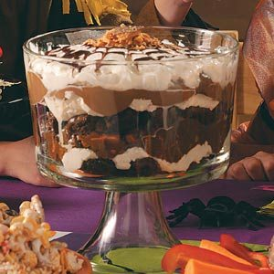 Spiderweb Brownie Trifle Recipe