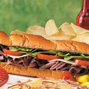 Pesto Roast Beef Sub Recipe
