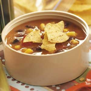 Fast Refried Bean Soup Recipe