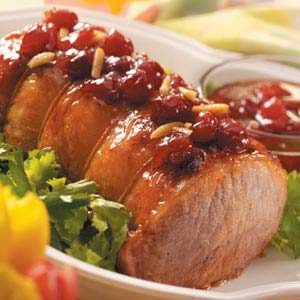 Roast Pork with Cherry-Almond Glaze Recipe