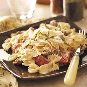 Italian Sausage with Bow Ties Recipe