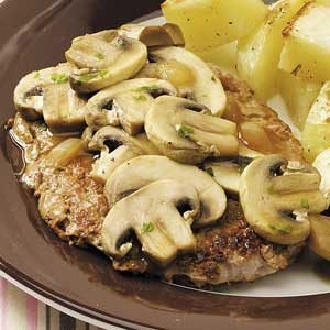 Veal with Mushroom-Wine Sauce Recipe