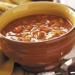 Tomato-Basil Orzo Soup Recipe
