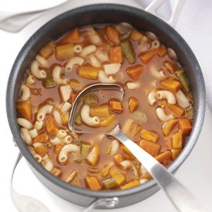 Hearty Macaroni Vegetable Soup Recipe