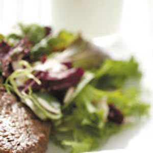 Mixed Greens with Garlic-Basil Vinaigrette Recipe