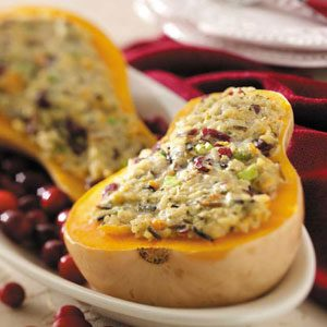 Rice-Stuffed Butternut Squash