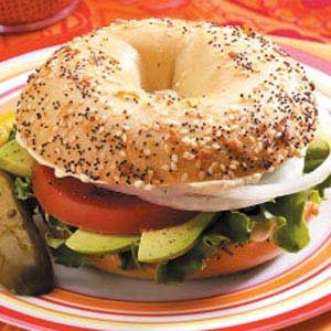 Hearty Veggie Bagel Sandwiches Recipe