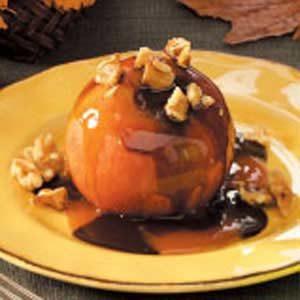 Warm Chocolate-Caramel Apples Recipe