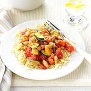 White Beans and Veggies with Couscous Recipe