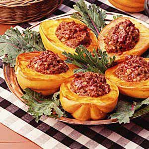Beef-Stuffed Squash Recipe