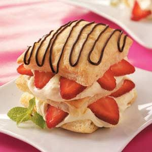 Easy Strawberry Napoleons Recipe photo by Taste of Home
