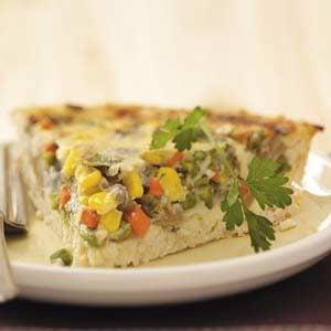 Spring Vegetable Quiche Recipe