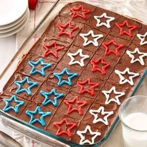 Fudgy Patriotic Brownies Recipe