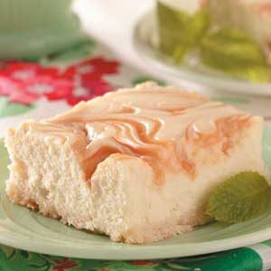 Caramel-Swirl Cheesecake Dessert Recipe