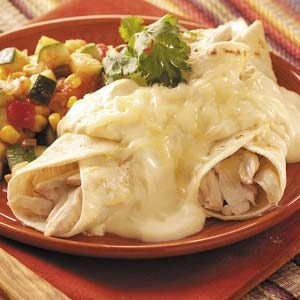 Quick Creamy Chicken Enchiladas Recipe